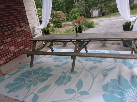 Eastham Cape Cod vacation rental - Covered Patio dining area with 12 foot picnic table