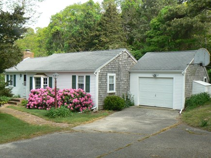East Orleans Cape Cod vacation rental - Plenty of parking in a circular driveway and a basketball hoop.