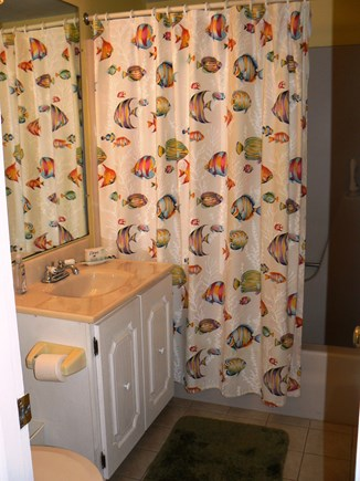 East Orleans Cape Cod vacation rental - Bathroom has tub/shower and plenty of storage for personal items.