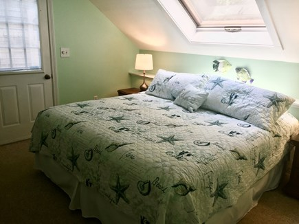 East Orleans Cape Cod vacation rental - King bed in master bedroom has skylight for stargazing!