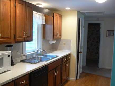 East Orleans Cape Cod vacation rental - The fully-equipped kitchen also has an adjacent washer and dryer.
