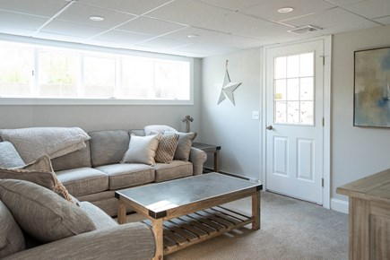 Dennis, Mayflower Beach Cape Cod vacation rental - Basement Den with TV & Pull out Couch