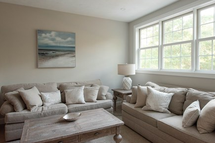 Dennis, Mayflower Beach Cape Cod vacation rental - Second Floor Den with TV & Gas fireplace