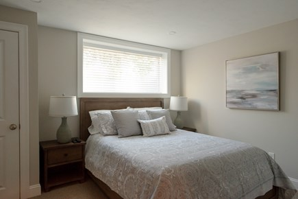 Dennis, Mayflower Beach Cape Cod vacation rental - Basement Bedroom #1 with Queen Bed & TV