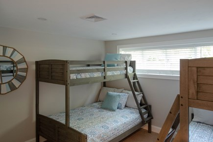 Dennis, Mayflower Beach Cape Cod vacation rental - Basement Bunkroom #2 with Twin over Double bunks(2) & TV