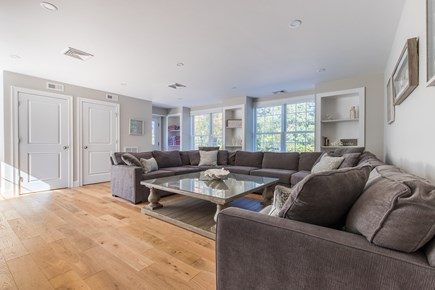 Dennis, Mayflower Beach Cape Cod vacation rental - Huge 500 SF First Floor Den with Wrap around Couch-Sits 12+