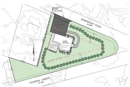 Dennis, Mayflower Beach Cape Cod vacation rental - Landscape Plan-large yard, large, private property