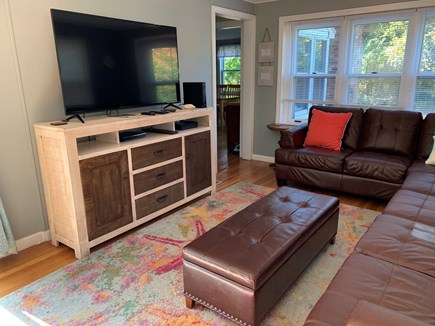 Mayflower Beach     Dennis Cape Cod vacation rental - Comfortable family room with wide-screen TV