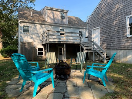 Mayflower Beach     Dennis Cape Cod vacation rental - Fire pit with lawn chairs