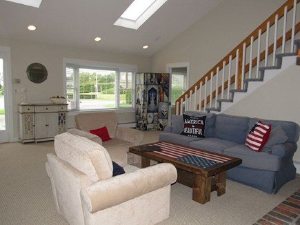 Falmouth Cape Cod vacation rental - Living room with patriotic ambiance