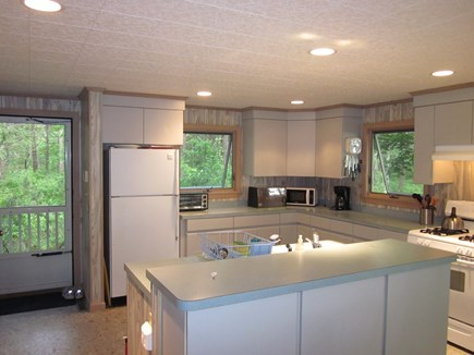 Cotuit Cotuit vacation rental - Fully appointed kitchen with the door to outside ramp.