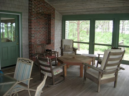 Cotuit Cotuit vacation rental - Screen porch can seat 8 for a meal while others gather and chat.