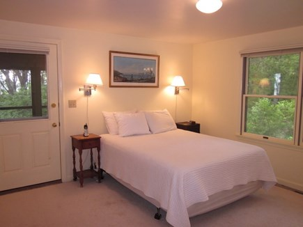 Cotuit Cotuit vacation rental - Master downstairs bedroom off the porch has its own bathroom.