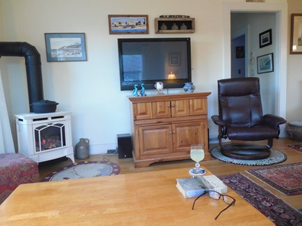 West Yarmouth Cape Cod vacation rental - Living room facing the hallway to the bath and 2 of the bedooms.
