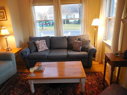 West Yarmouth Cape Cod vacation rental - Living room facing the street, waterview to the right.