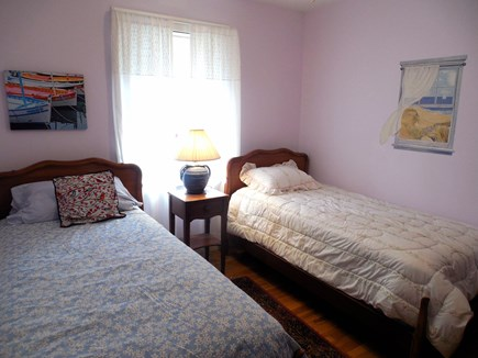 West Yarmouth Cape Cod vacation rental - Twin Bedroom (backyard side)