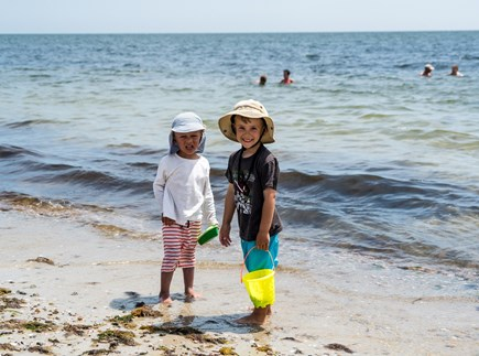 West Yarmouth Cape Cod vacation rental - Children enjoying a day at the beach