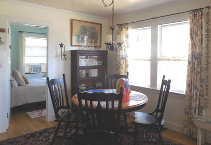 West Yarmouth Cape Cod vacation rental - Dining room (combined living/dining)  facesQueen Bedroom