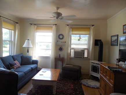 West Yarmouth Cape Cod vacation rental - Living room has the water view.