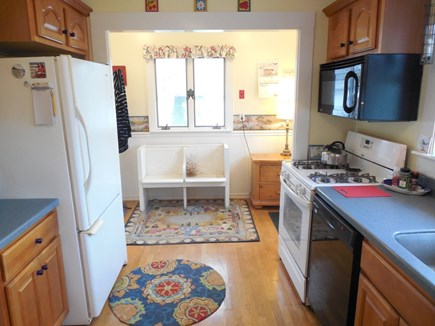West Yarmouth Cape Cod vacation rental - The Kitchen has a ceiling fan, as do all of the rooms.