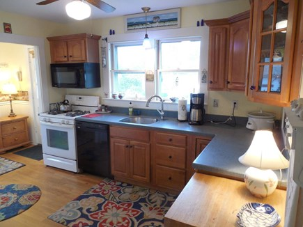 West Yarmouth Cape Cod vacation rental - Our Kitchen overlooks Brewster Road, we have a corner lot.