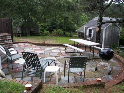 Chatham Cape Cod vacation rental - Private patio and yard, with conservation area beyond