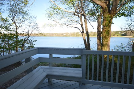 Orleans Cape Cod vacation rental - Back deck with grill, seating and views of the water