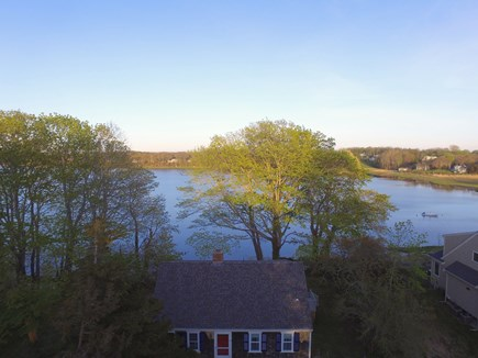 Orleans Cape Cod vacation rental - Aerial view of home - waterfront on Town Cove
