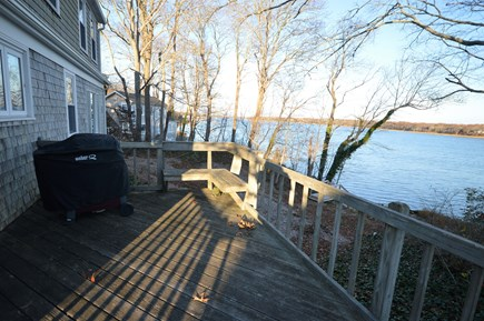 Orleans Cape Cod vacation rental - Deck with seating area, grill, and views of Town Cove