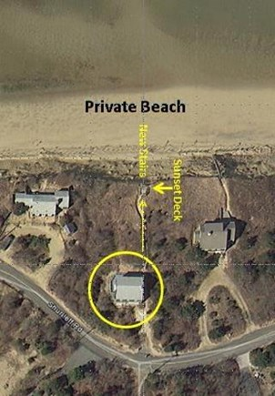 Eastham Cape Cod vacation rental - House Location On Property Lots of Privacy and Parking