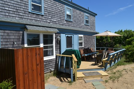 Eastham Cape Cod vacation rental - Bay Side Of House With Outside Shower and Wraparound  Deck