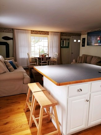 Dennisport Cape Cod vacation rental - Dining/Living pull out full size