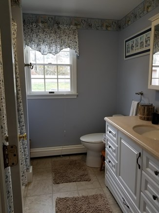 Dennisport Cape Cod vacation rental - Full Bath stocked with linens/towels and beach needs