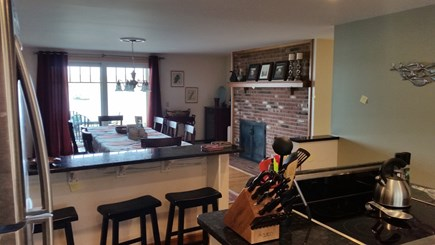Orleans and Eastham Border Cape Cod vacation rental - Kitchen looking into Dining Room and Cove