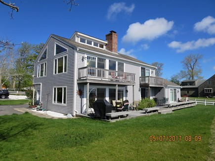 Orleans and Eastham Border Cape Cod vacation rental - Back of the House w/Deck, Grill, Outdoor Shower