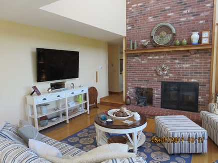 Orleans and Eastham Border Cape Cod vacation rental - Fireplace in Living Room