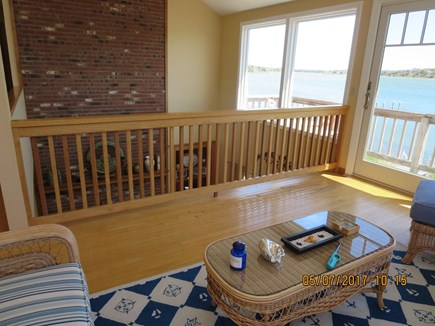 Orleans and Eastham Border Cape Cod vacation rental - Upstairs viewing room/loft with balcony looking over Cove