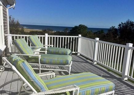 Orleans Cape Cod vacation rental - Upstairs Deck looking over the Atlantic Ocean.