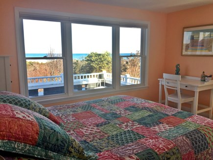 Orleans Cape Cod vacation rental - Bedroom with Queen Bed.  Beautiful sunrise views.  Private Bath.