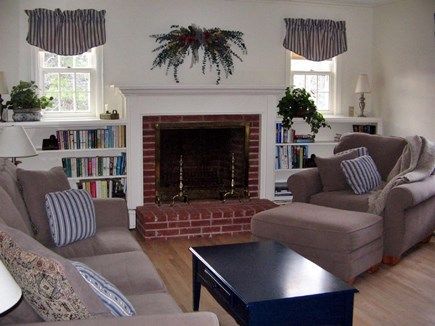 Chatham Cape Cod vacation rental - Comfortable living room furniture, oak hardwood floors