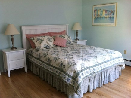 Chatham Cape Cod vacation rental - Newer Master Bedroom, Queen (new), White bead board furniture.