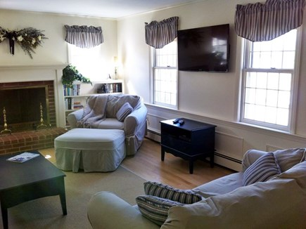 Chatham Cape Cod vacation rental - Newer  large flat screen HDTV in living room. Wireless internet