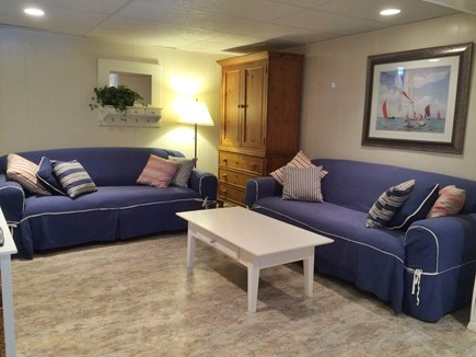 Chatham Cape Cod vacation rental - Comfortable couches in Lower level Family Room