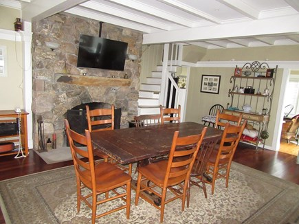Dennis Cape Cod vacation rental - Dining room is open to living room or den
