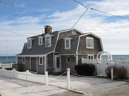 Dennis Cape Cod vacation rental - View as you approach house. Stairs to beach next door @ road