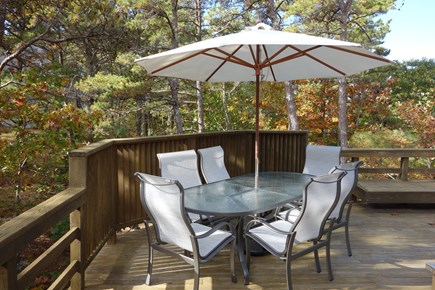 Wellfleet Cape Cod vacation rental - Large deck