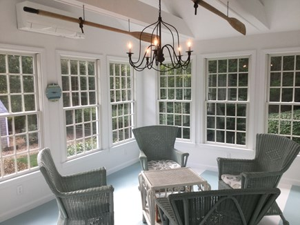 Orleans Cape Cod vacation rental - Beautiful sun porch overlooking the landscaped back yard.