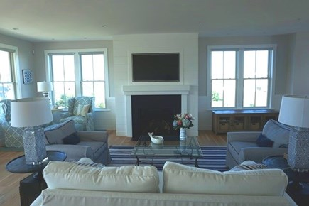 New Silver Beach, No. Falmouth Cape Cod vacation rental - Spacious Living Room