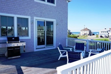 New Silver Beach, No. Falmouth Cape Cod vacation rental - Back Deck with View