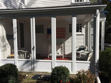 West Dennis Cape Cod vacation rental - Sun porch for morning coffee